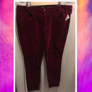 Size 18/34R Mossimo Velvet Jeans High Skinny NWoT